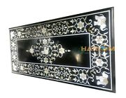 4'x2' Marble Black Dining Table Top Mother Of Pearl Elephant Inlay Decors B078