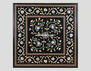 Marble Dining Side Table Inlay Collectible Multi Stone Used Floral Art Top H4422