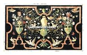 New Design Multi Birds Inlaid Unique Marble Center Table With Floral Work H4990