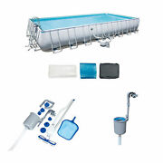 Bestway 31.3ft X 16ft X 52in Pool Set With Vacuum And Maintenance Kit With Skimmer