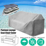 Grey Waterproof Zipper Pontoon Lounge Seat Chair Cover 23and039and039d X56and039and039w X 29and039and039h !