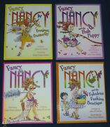 Fancy Nancy Lot Of 4 New Hardcover Books - Puppy, Butterfly, Fashion, Original