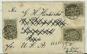 Germany History1923 Cover Front Only Jever Redir. To San Diego California Usa