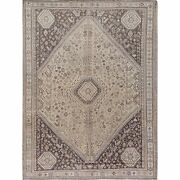 7and0392x9and0395 Natural Colors Vintage Farsian Sheeraz Wool Hand Knotted Rug R57606