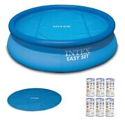 Intex Inflatable Round Pool 18andrsquo Round Solar Pool Cover And Type A Filter 6 Pack