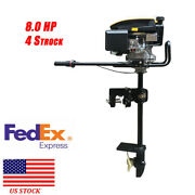 Heavy Duty Outboard Motor Boat Engine With Air Cooling System 4 Stroke 8hp Us