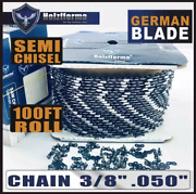 Holzfforma 100ft Roll 3/8 .050'' Saw Chain Compatible With Oregon Mac Chainsaw