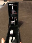 Fish And Richardson Wine Bottle Opener And Cigar Cutter With Leather Black Case