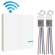Wireless Lights Switch Kit, Wall Mini Receiver Push Button Transmitter Receiver,