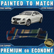 New Painted To Match Front Bumper For 2013 2014 Cadillac Ats W/ Park And Collision