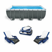 Intex 18ft X 9ft X 52in Ultra Xtr Rectangular Pool Floats 2 Pack And Cooler