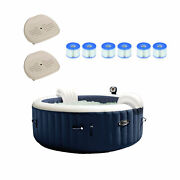 Intex 28405e 4-person Inflatable Hot Tub W/seat 2 Pack And Pool Filter 6 Pack