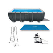 Intex Ultra 18ft X 9ft X 52in Ultra Xtr Rectangular Frame Pool And Solar Cover