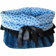 Mirage Pet Products Baby Blue Skulls Reversible Snuggle Bugs Pet Bed, Bag, An...