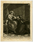 Rare Antique Master Print-satire-priest-wolve In Sheeps Cloth-collet-1775