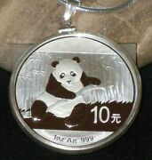 .925 Sterling Silver Bezel With Bale Fits 1oz Silver China Panda 32.88