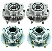New Front And Rear Wheel Bearing And Hub Assembly Kit Timken For Prowler Rwd