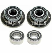 Front And Rear Wheel Bearings And Hubs Kit Timken For Bmw E30 318i 325e 325es Rwd