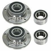 Front And Rear Wheel Bearings And Hubs Kit Timken For Bmw E46 330ci 330i E36 Z3 Rwd