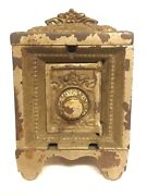 Original Horse Heads Iron Toy Safe Still Bank By Kenton Ca. 1911, Missing Grill