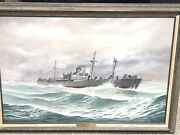 """John Richard Perry 1991 Ss Henry B Brown Oil Canvas Painting 41"""" X 29"""" Framed"""