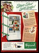 1948 Servel The Gas Refrigerator Stays Silent. Lasts Longer Vintage Print Ad