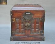 """Old Chinese Huanghuali Wood Hand Carved""""福""""storage Cabinet Drawer Jewelry Boxes"""
