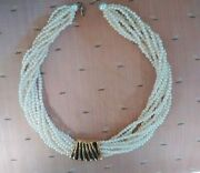 White Pearl Choker With Slide Necklace Fashion Costume Jewelry Free Shipping