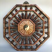 Collect Chinese Huali Wood Inlay Shell Counting Frame Abacus Wall Hanging Statue