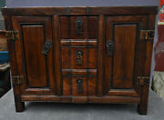 18 Old China Dynasty Huang Huali Wood Drawer Locker Cabinet Altar Table Statue