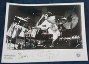 Keith Moon Autograph Photo Drummer For The Who