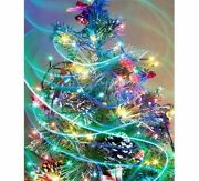 Christmas Tree Diamond Painting Lovely Colorful Lights Designs House Decorations
