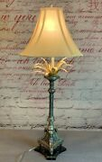 Raymond Waites For Tyndale Frederick Cooper. Candle Stick .silver Gold Leaf Lamp