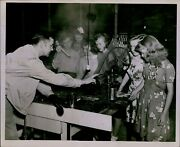 Ld208 Orig Photo Agriculture Class Teacher Instructor Students Canning Machine