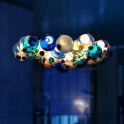 Modern Chic Cluster Pendant Light With Multi-color Hand-blown Glass Globes Party