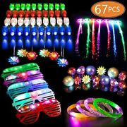 67 Pcs Led Light Up Toys Party Favors Glow In The Dark Supplies For Kid/adults 5