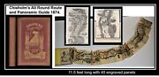 Chisholm's All Round Route 1876 11.5 Foot Folding Map St. Lawrence Hudson Advert