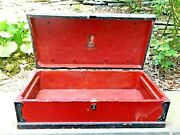 Buddy L Tool Chest Box Toolbox Metal Handles Wooden Vintage Antique