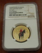 Canada 2007 Gold 75 Ngc Pf69uc Vancouver Olympics R.c.m.p. Colorized