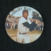 1978 Hall Of Fame 3 Inch Pin Button Willie Mays Giants