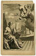 Antique Print-frontispiece-classical History-plutarch-fame-burghers-ca. 1700