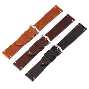 18-24mm Women Men Diy Genuine Leather Watch Strap Band Retro Style Buckle Tools