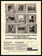 1967 Air France Airline Travel Vacation Paris Amsterdam Brussels Slides Print Ad