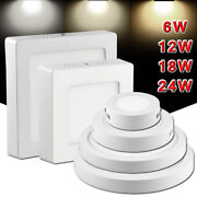 6/12/18/24w Led Surface Mounted Ceiling Down Panel Light Kitchen Bathroom Lamp