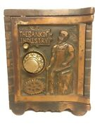 C.1902-1932 kenton The Bank Of Industry Copper Electroplate Bank