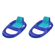 Swimways Spring Float Recliner Xl Floating Swimming Pool Lounge Chair 2 Pack