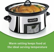 Crock-pot 6-quart Programmable Slow Cooker With Digital Timer Stainless Steel
