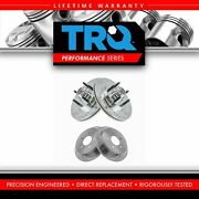 Trq Front Rear Performance Drilled Slotted Zinc Coated Rotor Kit For Ford