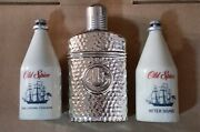 Old Spice After Shave, Cologne, Empty Flask Vintage 80s Lot Of 3 Shulton,star