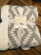 Circo Target Limited Edition Chevron Baby Blanket Cable Knit Sherpa Fleece